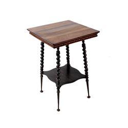 Early 1900s Oak Barley Twist End Table