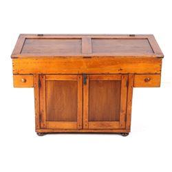 Circa 1860's Quarter Sawn Oak Dry Sink