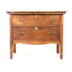 Circa 1890's Quarter Sawn Oak Two Drawer Dresser