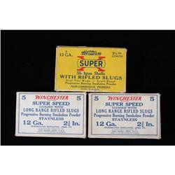 Western & Winchester Rifled Slug Shotgun Shell Box
