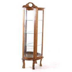 Early Quarter Sawn Oak Curio Display Cabinet