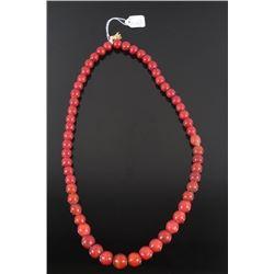 Red Cornaline d'Aleppo Trade Bead Necklace