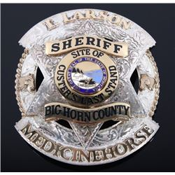 Big Horn County Montana Gold Silver Sheriff Badge