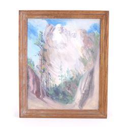 Original Carl Tolpo Mount Rushmore Oil Painting