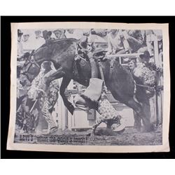 RARE Early Levi's Jeans Rodeo Advertisement Poster