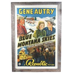 Gene Autry Blue Mountain Skies Poster c. 1939