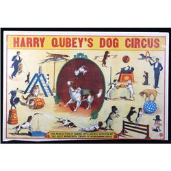 Early 1900's Harry Qubey's Dog Circus Poster
