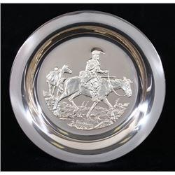 Gordon Phillips Sterling Silver Mountain Man Plate