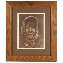 Edward Curtis Datsolali Basket Maker Photogravure