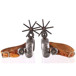 Early Double Mounted Silver Vaquero Spurs 1800's
