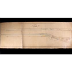 Rare Factory Winchester Model 1875 Musket Diagram