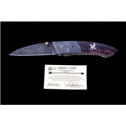 Navajo Dave Yellowhorse Damascus Eagle Knife