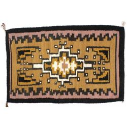 Navajo Two Grey Hills Wool Rug by Delores Thompson