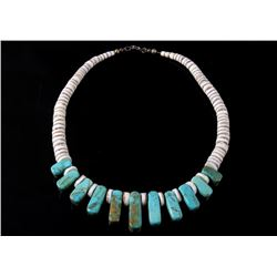 Santo Domingo Pueblo Turquoise & Jasper Necklace