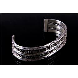 Navajo Sterling Silver Old Pawn Bracelet