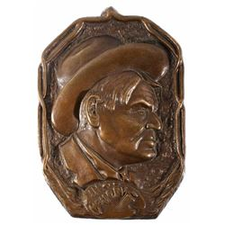 Rare Charlie Russell Memorial Plaque