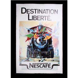 Destination Liberte Nescafe Ad Poster