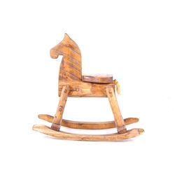 Early Oak Handcrafted Child's Rocking Horse