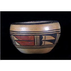 Hopi Pottery Polychrome Painted Bowl c. 1900-