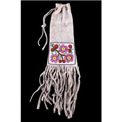 Santee Sioux Beaded Tobacco Pipe Bag c. 1890-1900
