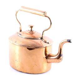 1860 Copper Dovetail Bottom Penn. Gooseneck Pots