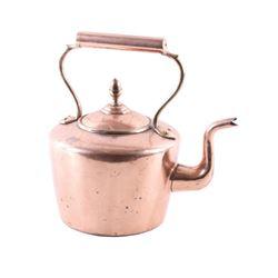 1860 Dovetail Bottom Penn. Gooseneck Copper Pot