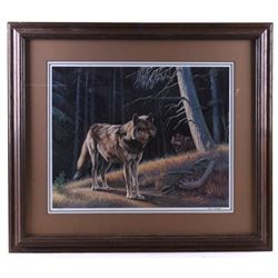 "1989 Original Paul Krapf ""Wolves on the Prowl"""