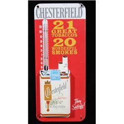 Chesterfield Cigarette Advertising Thermometer
