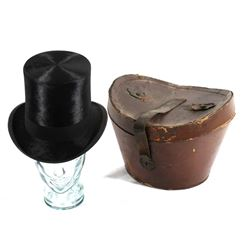 Knox Beaver Top Hat with Original Leather Case
