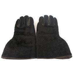 Early 1930's Black Bear Gauntlet Gloves