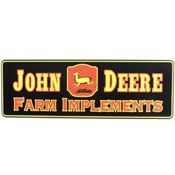 John Deere Farm Implements Replica Sign