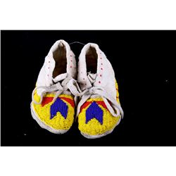 1960s Crow Beaded Child's Moccasins