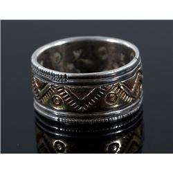 Navajo 14K Gold & Sterling Silver Ring