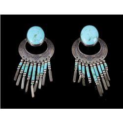 Navajo Dry Creek Turquoise & Silver Earrings