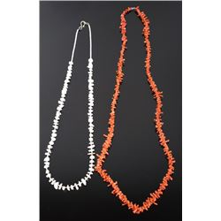 Red & White Branch Coral Necklaces