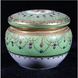 Hand Painted & Decorated Porcelain Powder Box