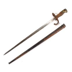 M1874 French Bayonet with Metal Scabbard