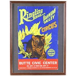 Ringling Brother's Circus Butte Sign