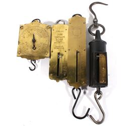 Collection of Early 1900 Chatillon Hanging Scales