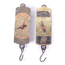 Pair of Spring Balance Mike Produce Scales