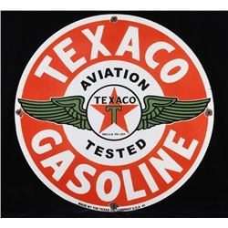 Texaco Recreation Porcelain Enamel Sign Re-Make