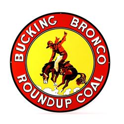 Bucking Bronco Roundup Coal Montana Sign Re-Make