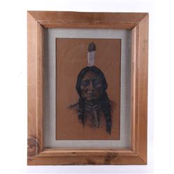 1978 Native American Indian Portrait Marvin Dull