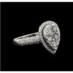 14KT White Gold 1.13 ctw Diamond Ring