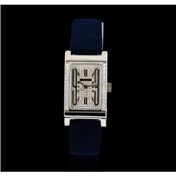 Bvlgari 18KT White Gold Diamond Rettangolo Ladies Watch
