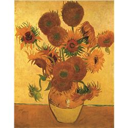 Vincent Van Gogh Vase With Sunflowers