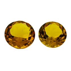 9.94 ctw.Natural Round Cut Citrine Quartz Parcel of Two