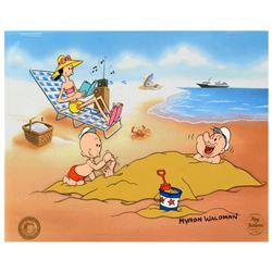 A Day At The Beach by Myron Waldman (d. 2006)