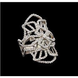 14KT White Gold 1.11 ctw Diamond Ring