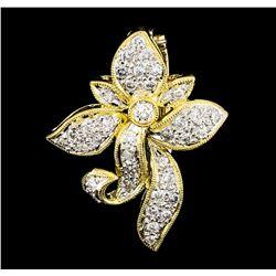 0.20 ctw Diamond Pendant - 18KT Yellow Gold